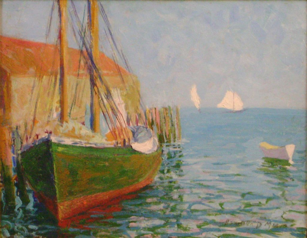 Henrietta Dunn Mears Oil Painting Provincetown Harbor MA