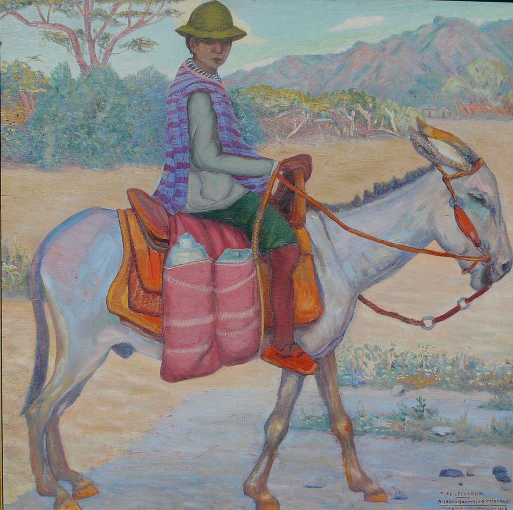 Alfredo Gramajo Gutierrez Oil Painting El Lechero