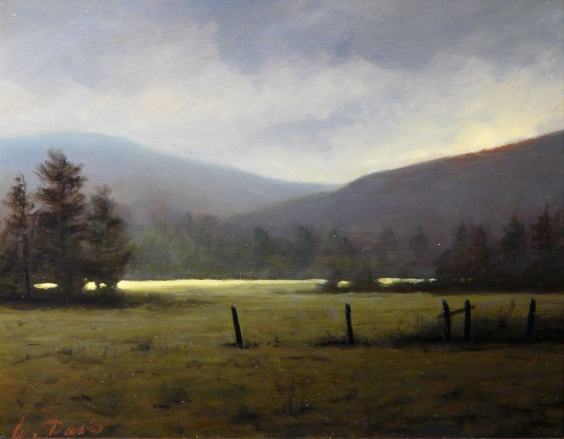 William R. Davis Oil Painting Thunderstorm, Conway Valley NH