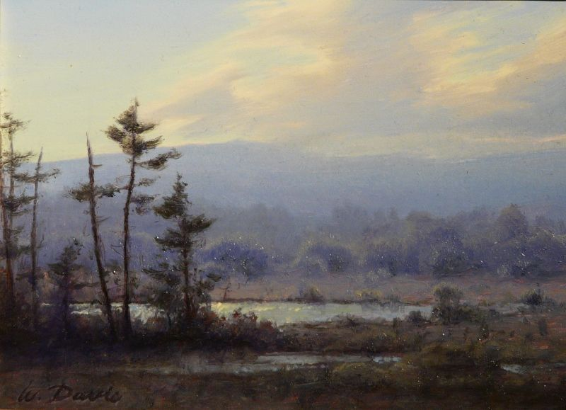 William R. Davis Oil Painting Marsh Landscape Tamworth NH