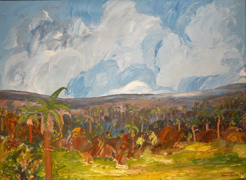 Alexander Kwartler Oil Painting Tropical Landscape