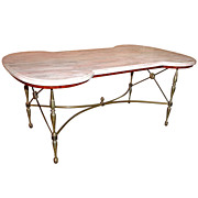Hollywood Regency Style Italian Marble Top Coffee Table c. 1960