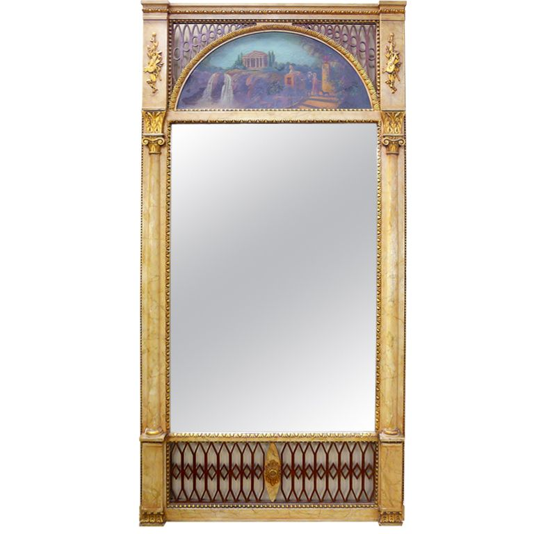 Adams style pier mirror from nhantiquecoop on ruby lane for Adam style mirror