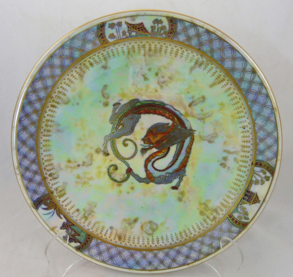 "Wedgwood Dragon Lustre 9"" Plate c. 1920"