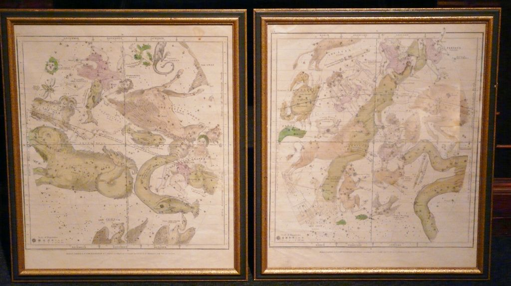 Pair of Astrological Maps F.J. Huntington 1835