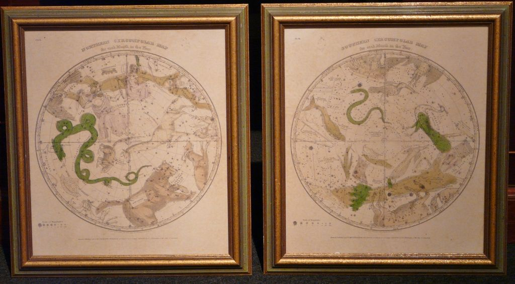 Pair of Circumpolar Maps for Northern/Southern Hemisphere 1835