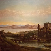Oil Painting Scottish Landscape Early 19th Century