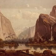 Harry Cassie Best Oil Painting Yosemite Valley CA