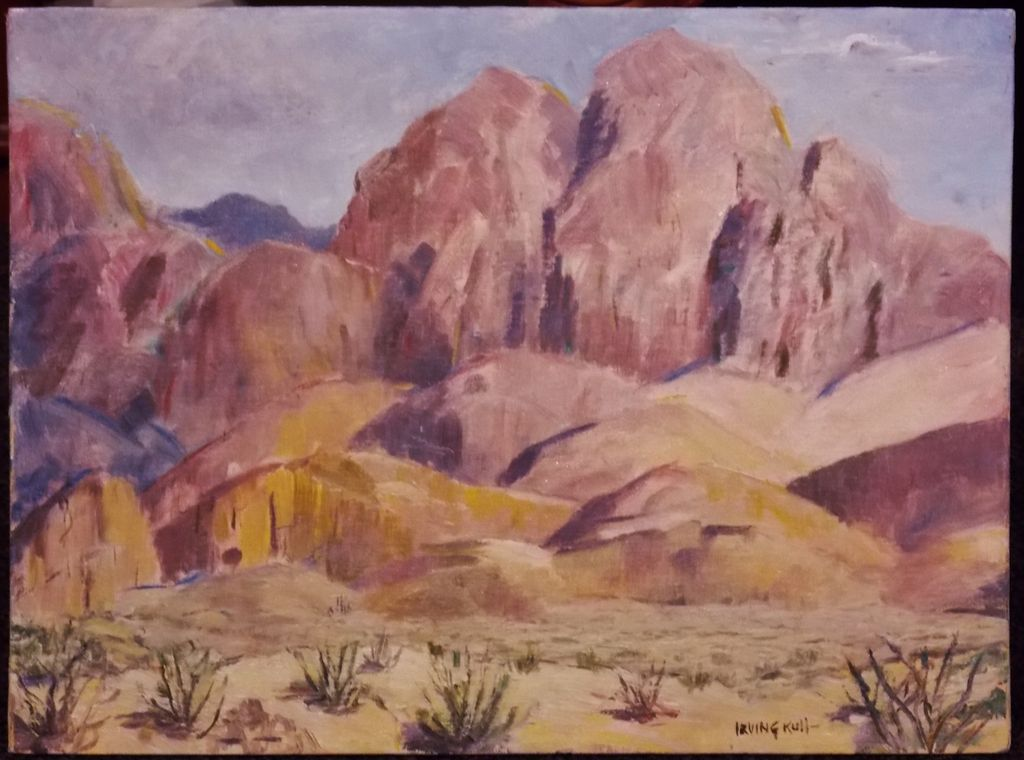 Irving Kull Oil Painting Organ Mountains New Mexico