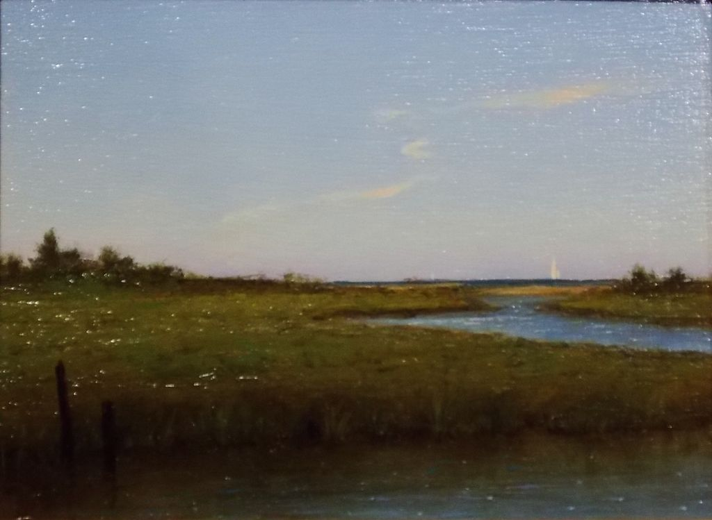 "William R. Davis Oil Painting ""Quiet Salt Marsh, 2011"""