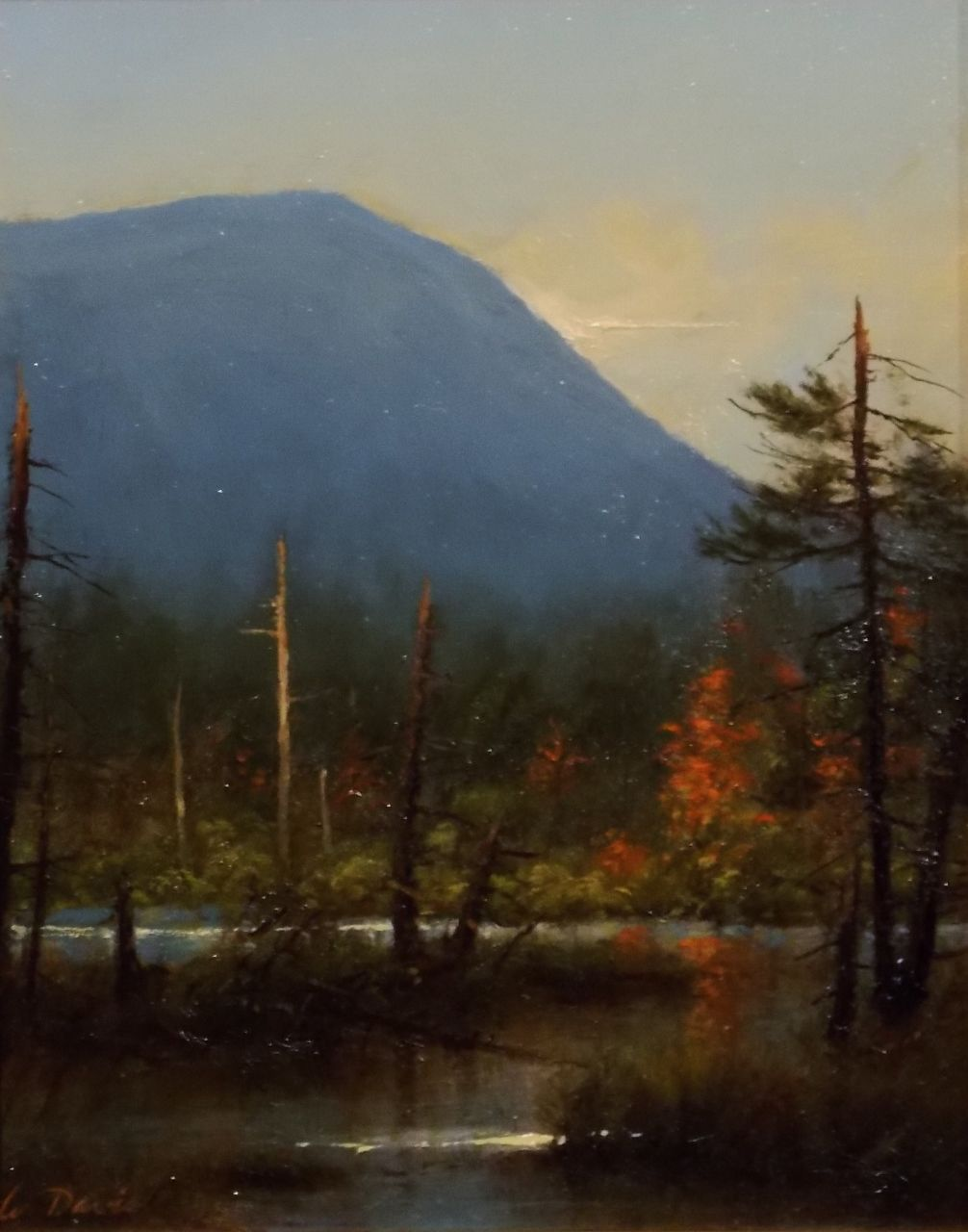 "William R. Davis Plein Air Oil Painting ""Marsh View Toward Mt. Webster"" NH"