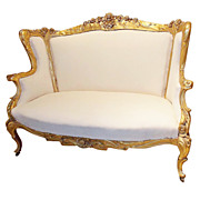 Karpen Brothers Art Nouveau Carved & Gilded Settee or Sofa c. 1900