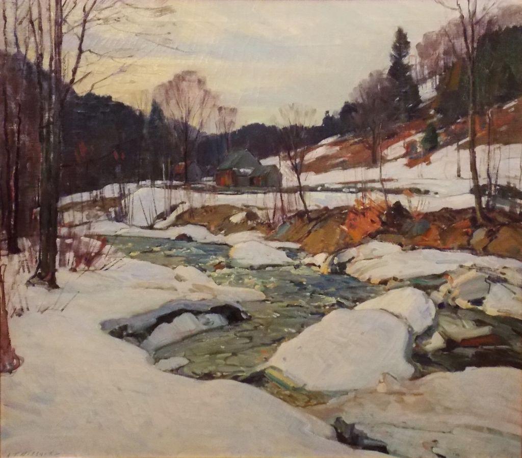 Aldro Thompson Hibbard Oil Painting Winter Landscape