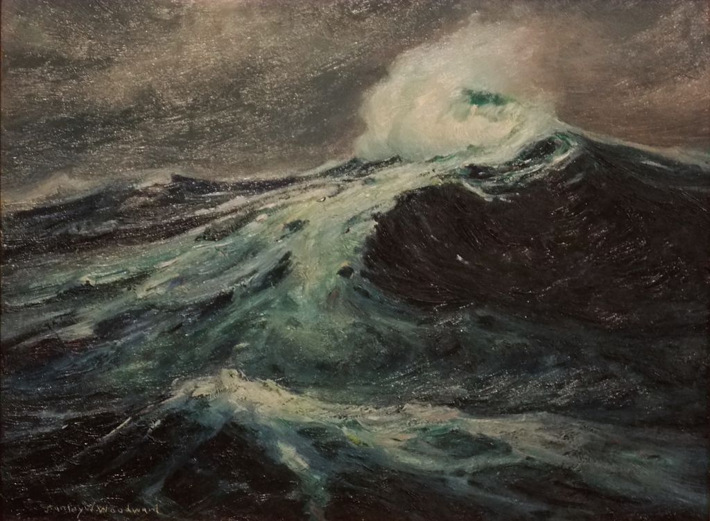 Stanley Wingate Woodward Oil Painting Seascape