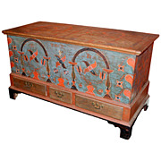 Early 19th c. Berks County, Pennsylvania Painted Dower Chest