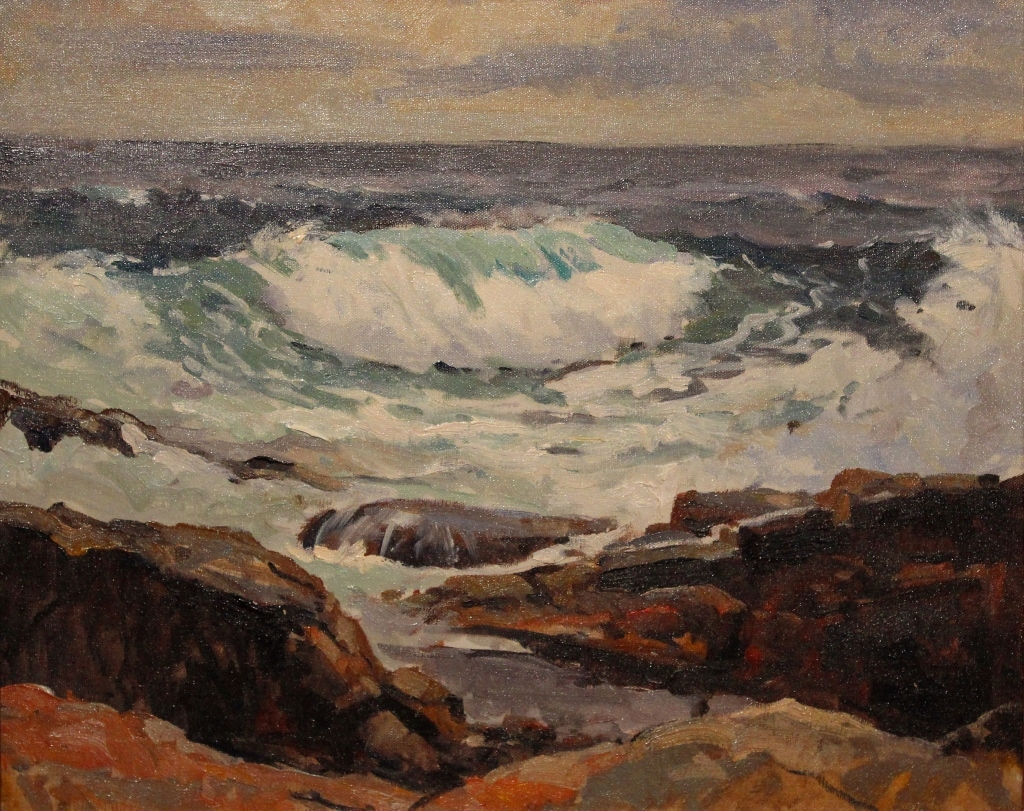 Bernard Corey Oil Painting Seascape Estate Stamp