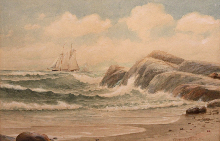 Melbourne Havelock Hardwick Watercolor Ship Seascape