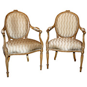 18th c. George III Arm Chairs in French taste