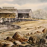 Bill Childs Watercolor Painting Eggemoggin Reach Maine