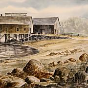 Bill Childs Watercolor Painting Eggemoggin Reach Maine