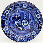 "Clews Staffordshire ""The Escape of the Mouse"" 10"" Plate c. 1820"