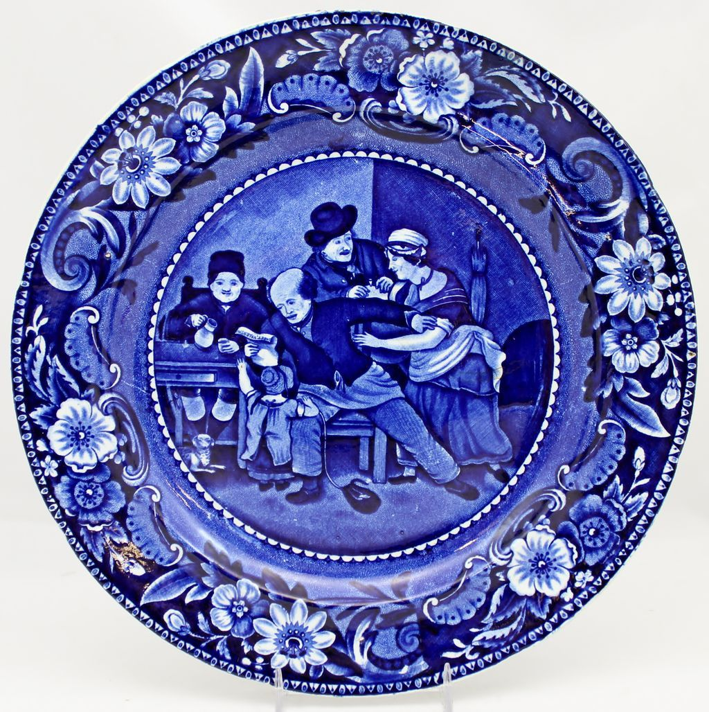 "Clews Staffordshire ""The Valentine"" 9"" Plate c. 1820"