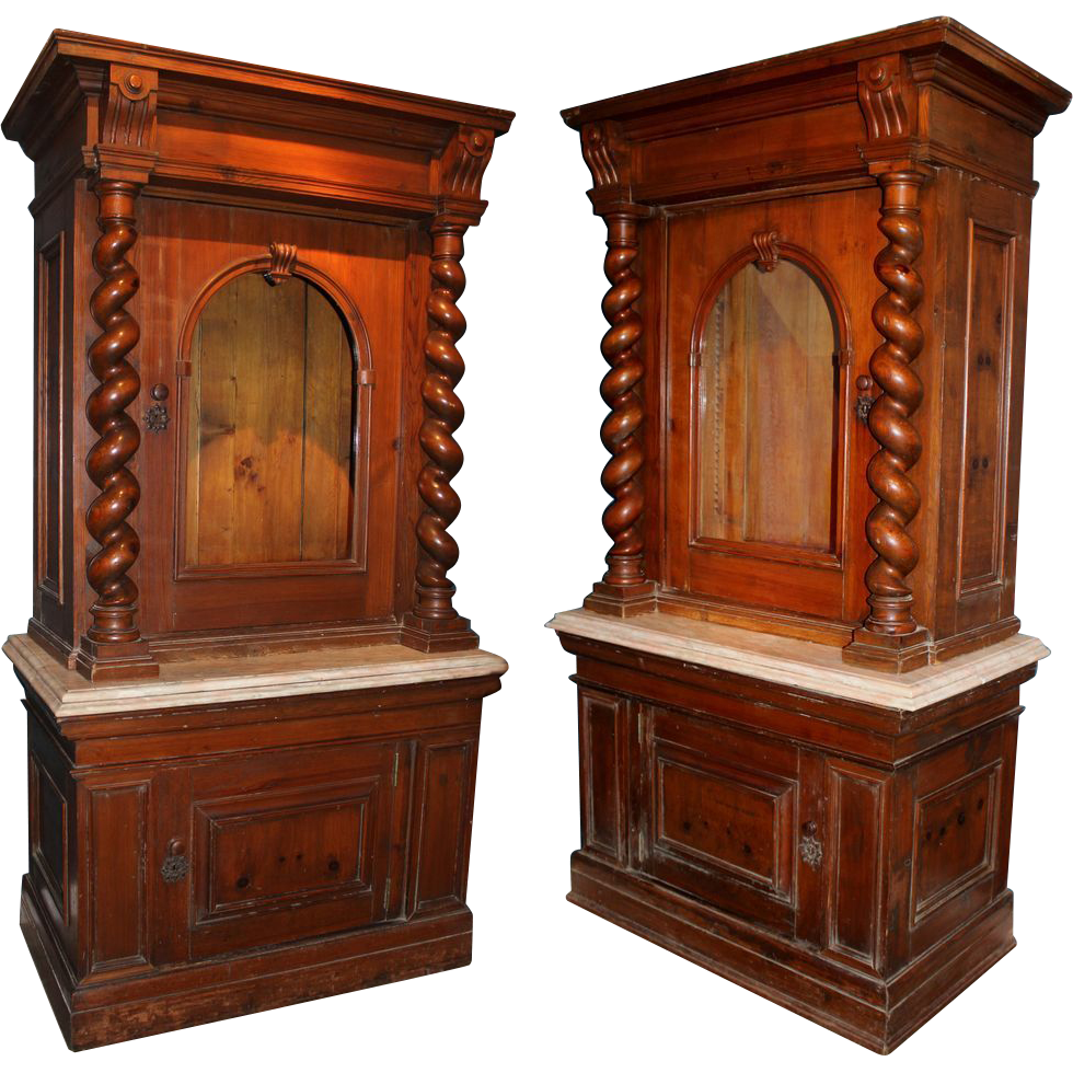 Pair of 19th century italian cabinets from nhantiquecoop for 19th century kitchen cabinets