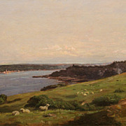Thomas Harris Robinson Oil Painting Kettle Point RI
