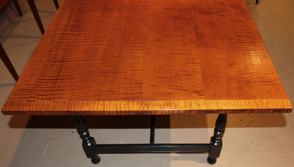 Jason Samuel Bench Made Tiger Maple Dining Table in the William ...