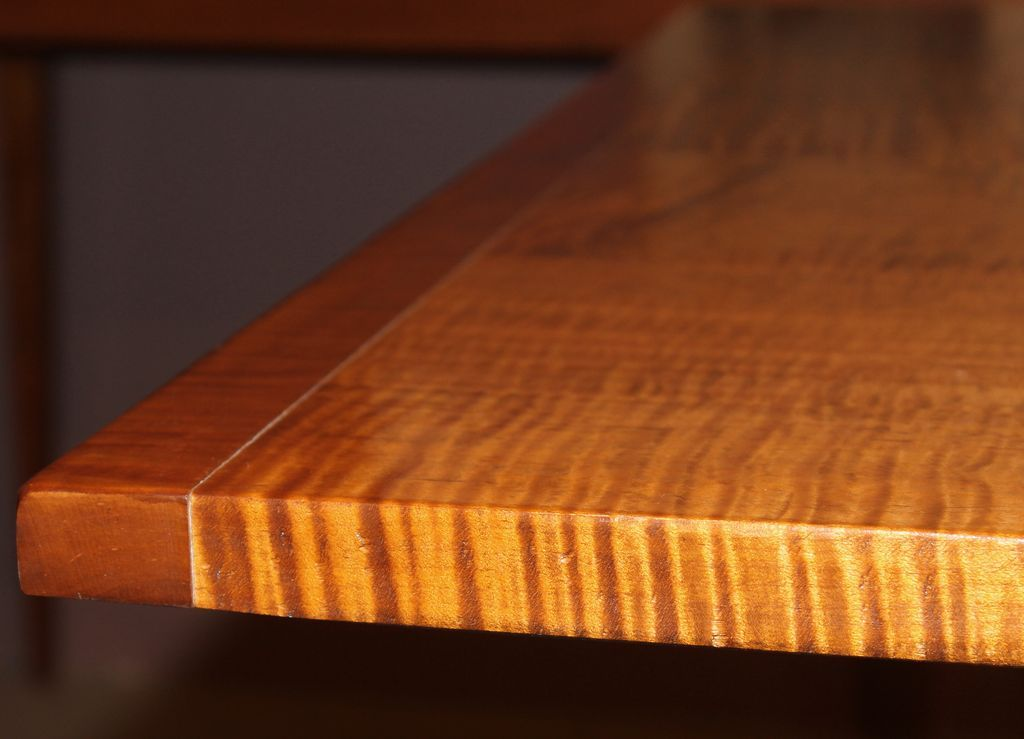 Jason Samuel Bench Made Tiger Maple Dining Table in the ...