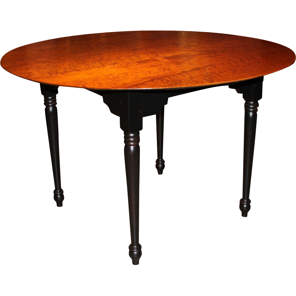 Jason samuel bench made bird 39 s eye maple round dining for Table transparente