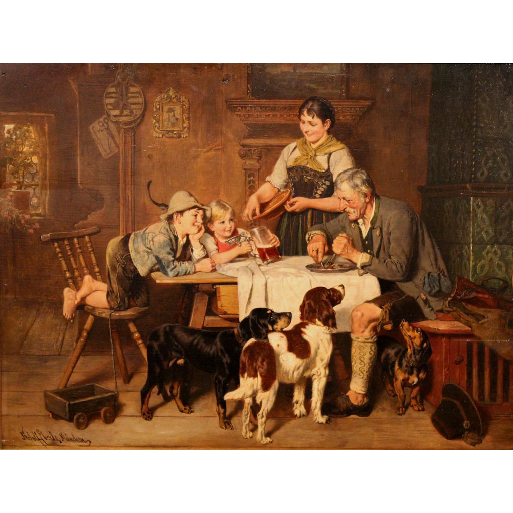 Adolf Eberle Oil Painting Home From The Hunt
