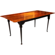 Jason Samuel Bench Made Tiger Maple Porringer Top Dining Table