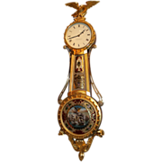 Lemuel Curtis 8 Day Girandole Clock by Ted Burleigh Jr