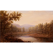 Erik Koeppel Landscape Oil Painting Mt. Washington on the Saco NH