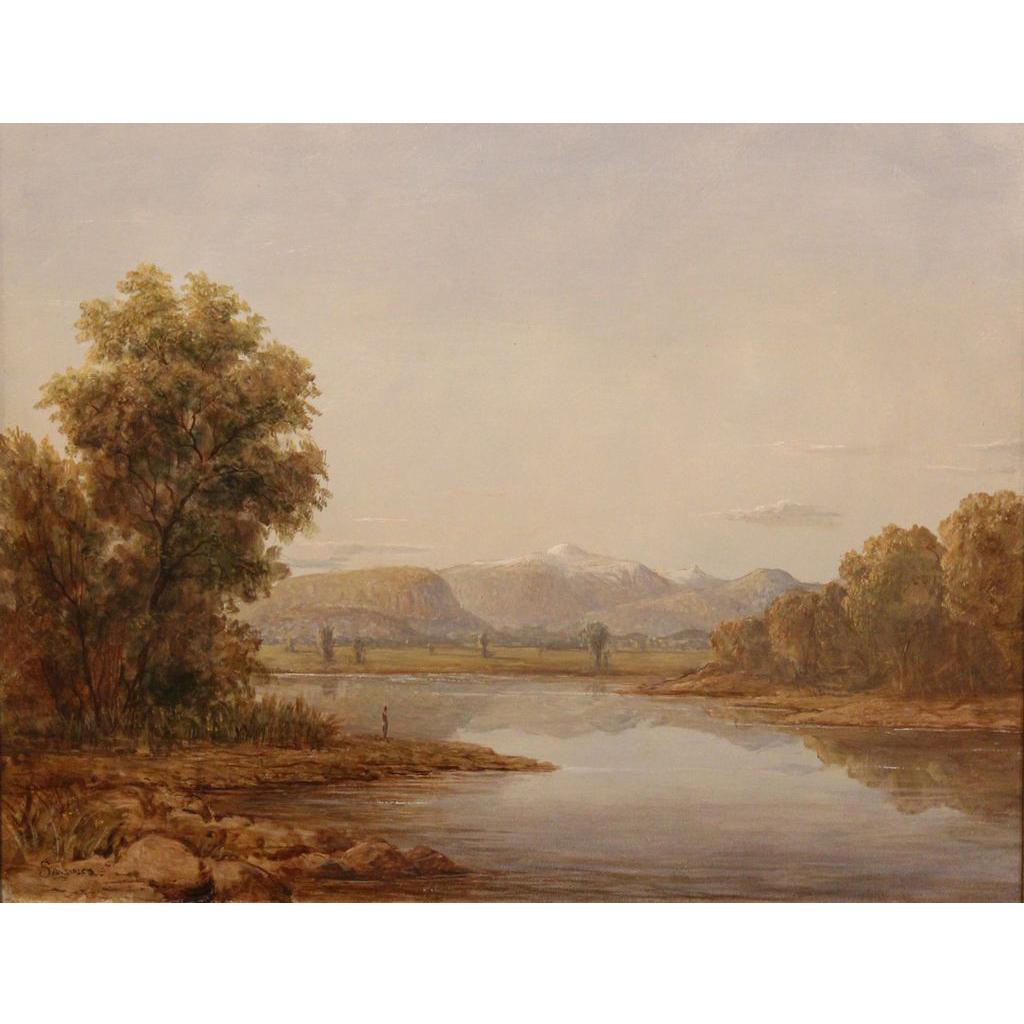 Lauren Sansaricq Oil Painting Mt. Washington on the Saco NH