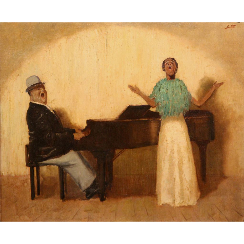 Edward Barnard Lintott Oil Painting Fats Waller & Myra