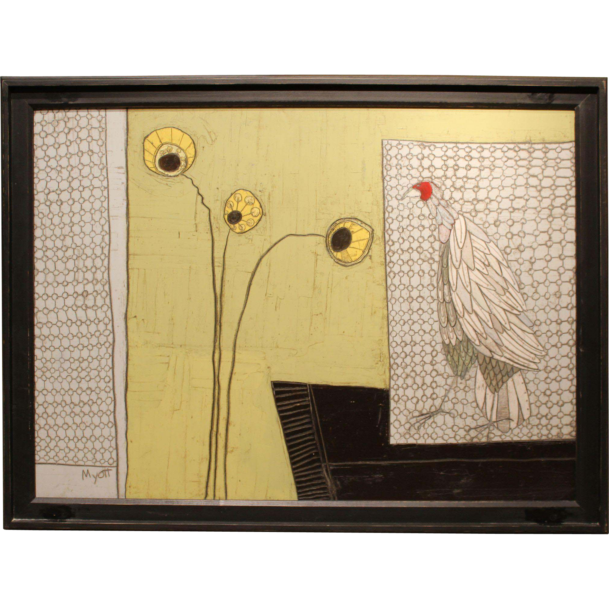 Christopher Myott Oil Painting Still Life with a Chicken