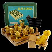 Shackman NY Teddy Bear School Game with Original Box 1950's