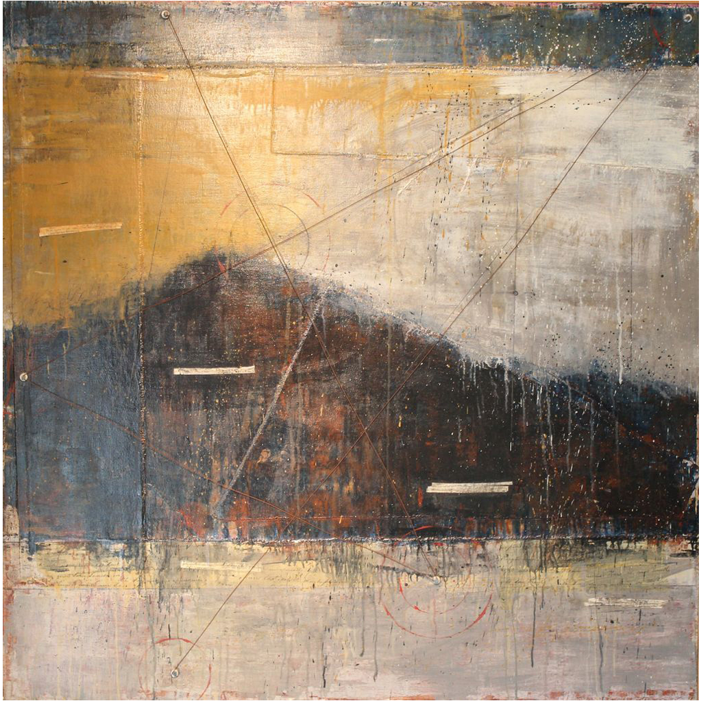 Jessie Pollock Acrylic and Mixed Media Painting Mt. Monadnock NH