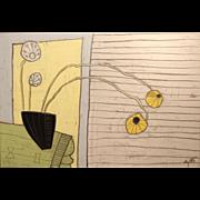 Christopher Myott Oil Painting Still Life of Dandelions