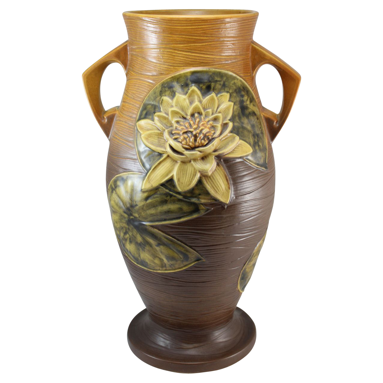 "Roseville Water Lily 85-18"" Floor Vase"