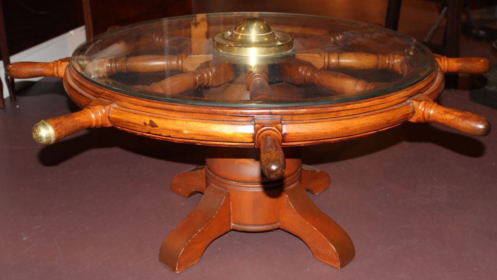 19th C Ship S Wheel Coffee Table From Nhantiquecoop On Ruby Lane