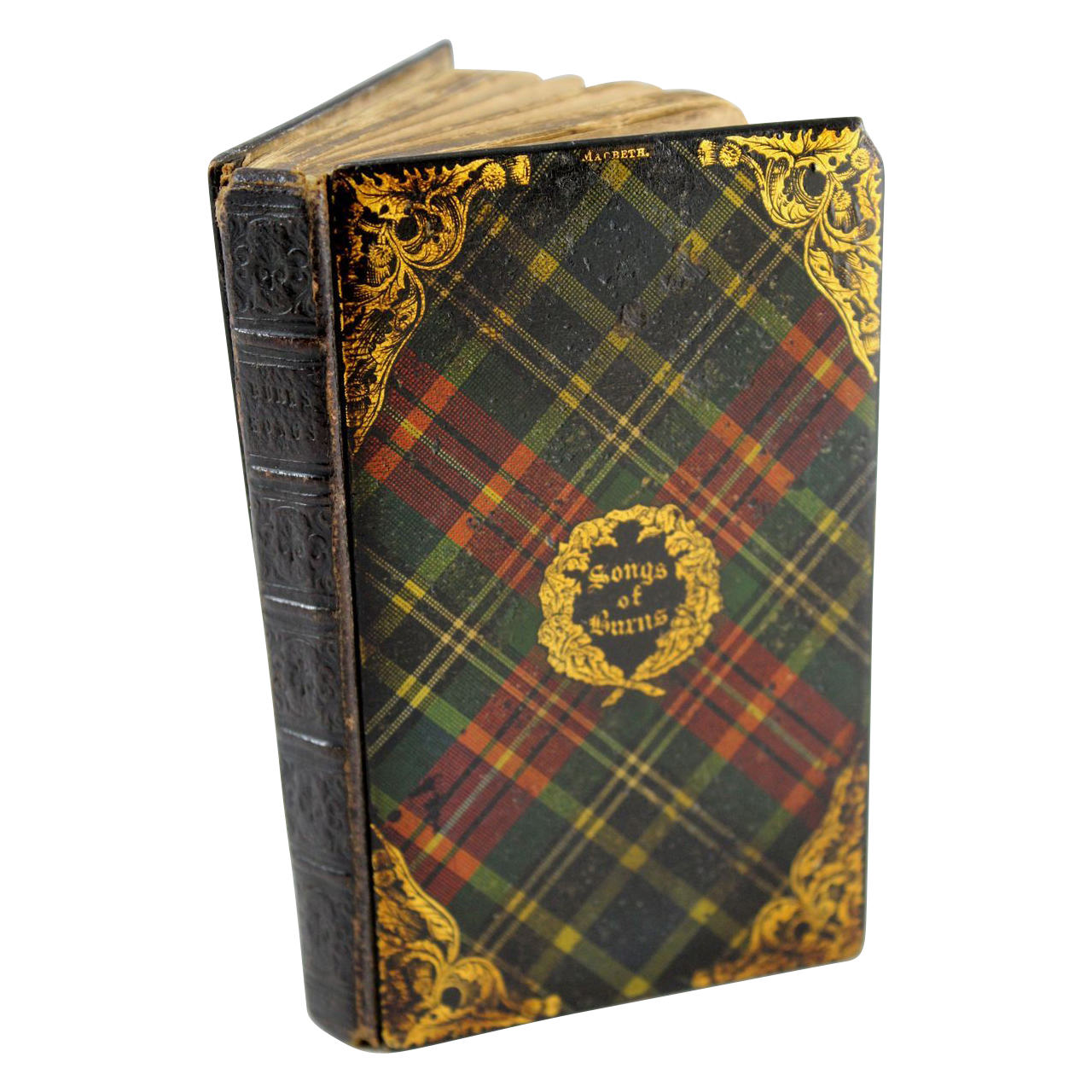 "Tartanware Book ""Songs of Burns"" with MacBeth Tartan"