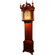 John Fisher Four Handed Tall Clock with Moon Phase Dial c. 1790 Yorktown, PA
