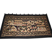 Early 20th c Large Burmese Wall Tapestry