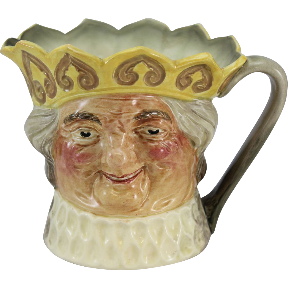 Royal Doulton Old King Cole Yellow Crown Character Jug Music Box
