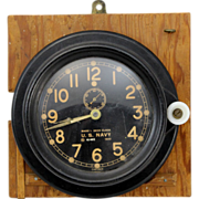 WWII U.S. Navy Chelsea Mark I Deck Clock 1942