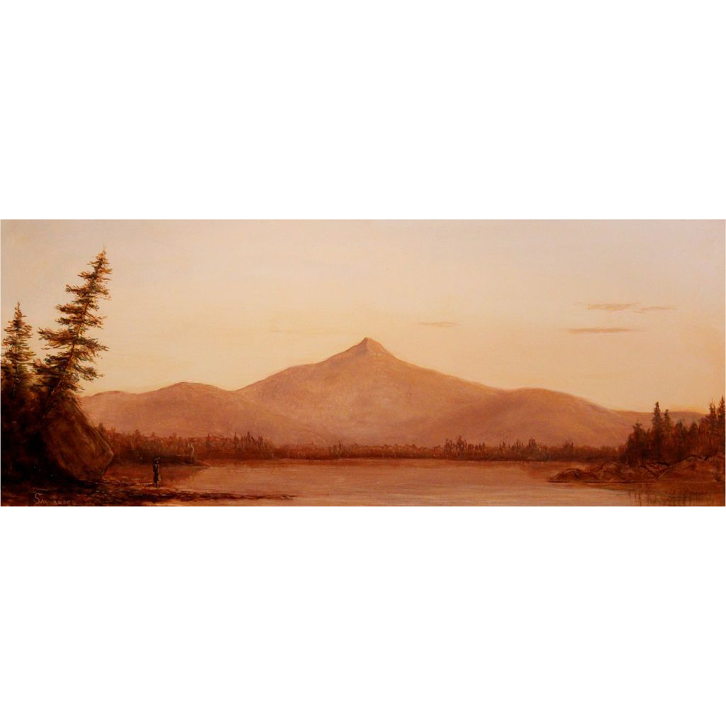Lauren Sansaricq Landscape Oil Painting Twilight Scene of Mount Chocorua NH