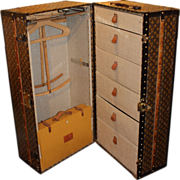 Louis Vuitton Wardrobe Trunk, circa 1920's